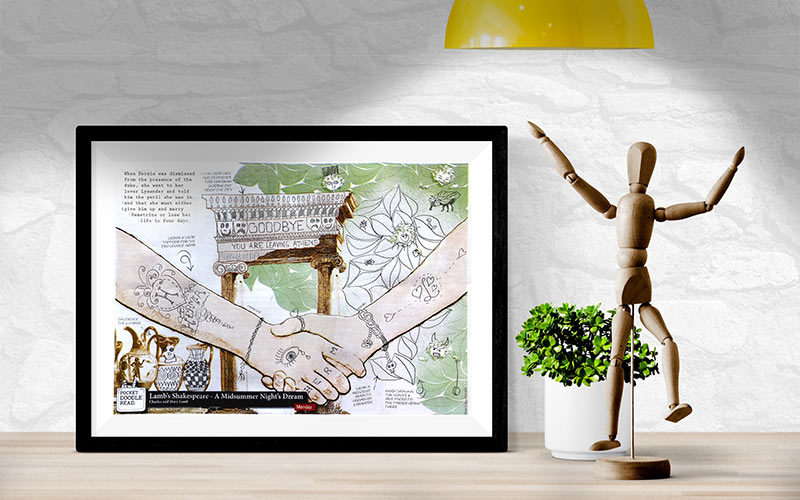 Pocket Doodle Reads make great printable home decor - with a personal touch