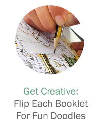Get Creative: Flip Each Booklet For Fun Doodles