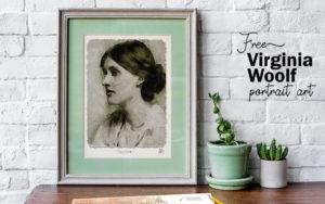 Virginia Woolf Portrait Print - Free printable art