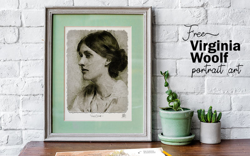Virginia Woolf Portrait Print - Free printable art