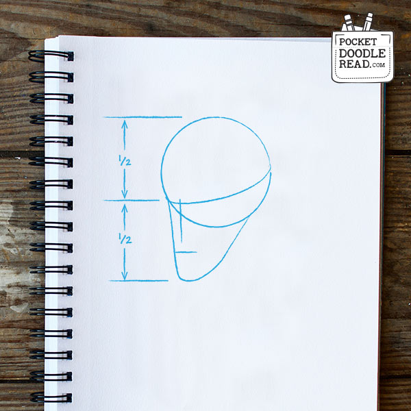 Drawing Sherlock Holmes - foundation shapes, nose and mouth