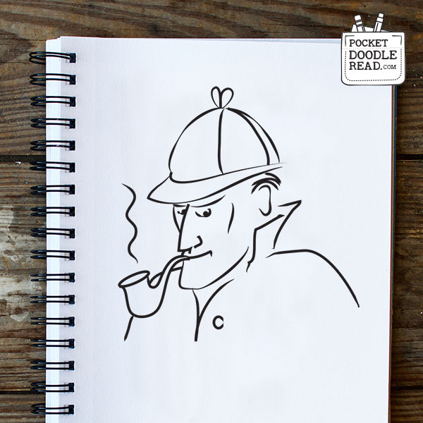 Step 9: Your finished drawing of Sherlock Holmes