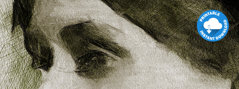 Detail of our Virginia Woolf Portrait