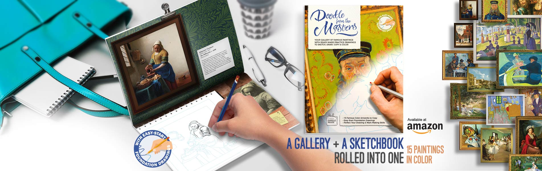 Doodle with the Masters. A Gallery and a Sketchbook Rolled Into One