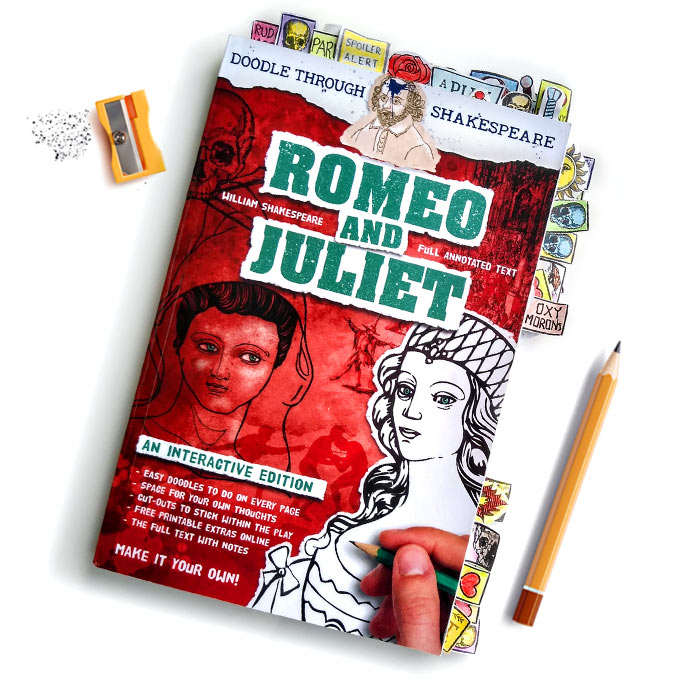 Romeo and Juliet Doodling Book a perfect teaching resource