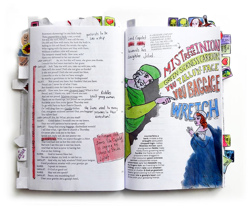 Romeo and Juliet Act 3 Scene 5 book spread