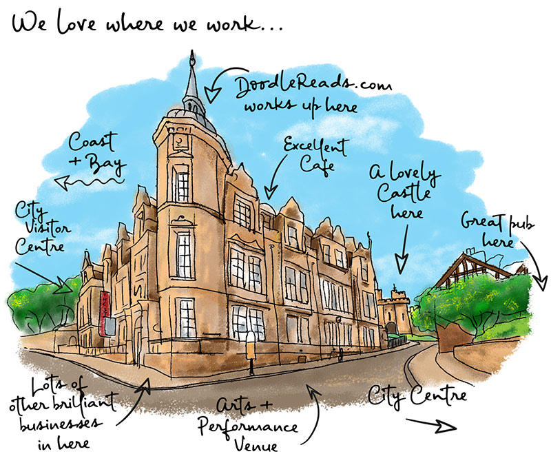 We love where we work... Drawing of The Storey Lancaster