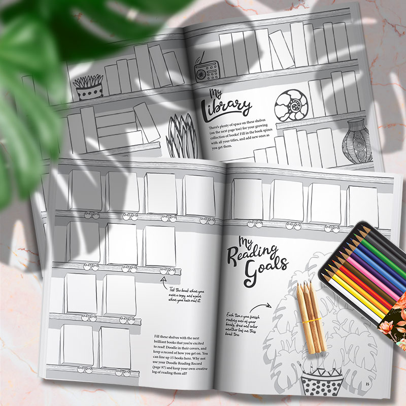 The Book Lover's Doodle Journal - Plan your reading goals in this perfect book lover's journal