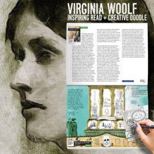 Virginia Woolf. Inspiring Read + Creative Doodle